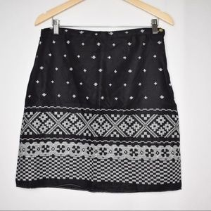 Max Studio Embroidered Printed Linen Skirt NWT